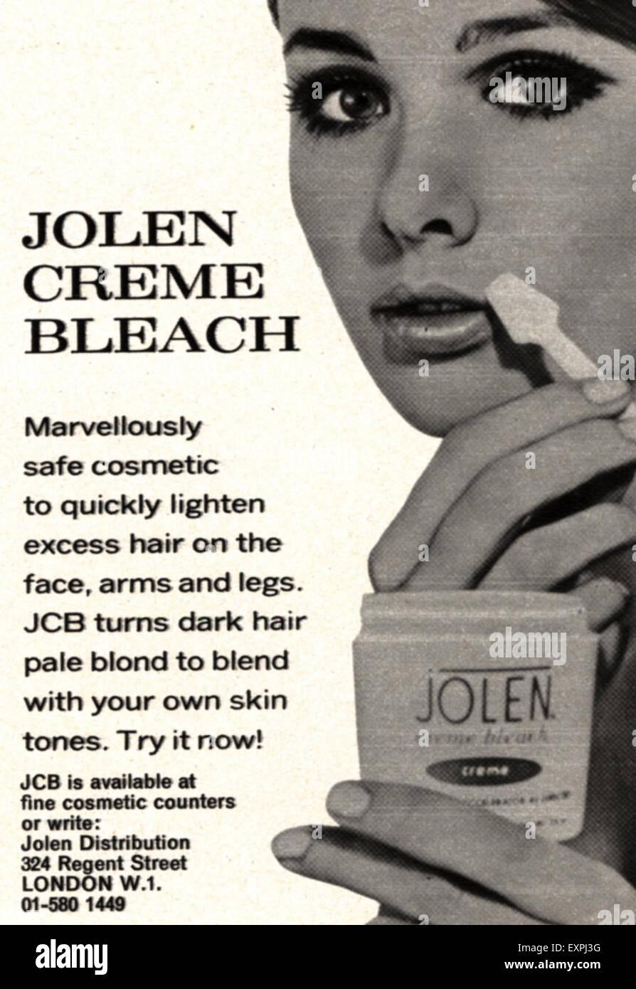 1960 UK Jolen Magazine anuncio Imagen De Stock