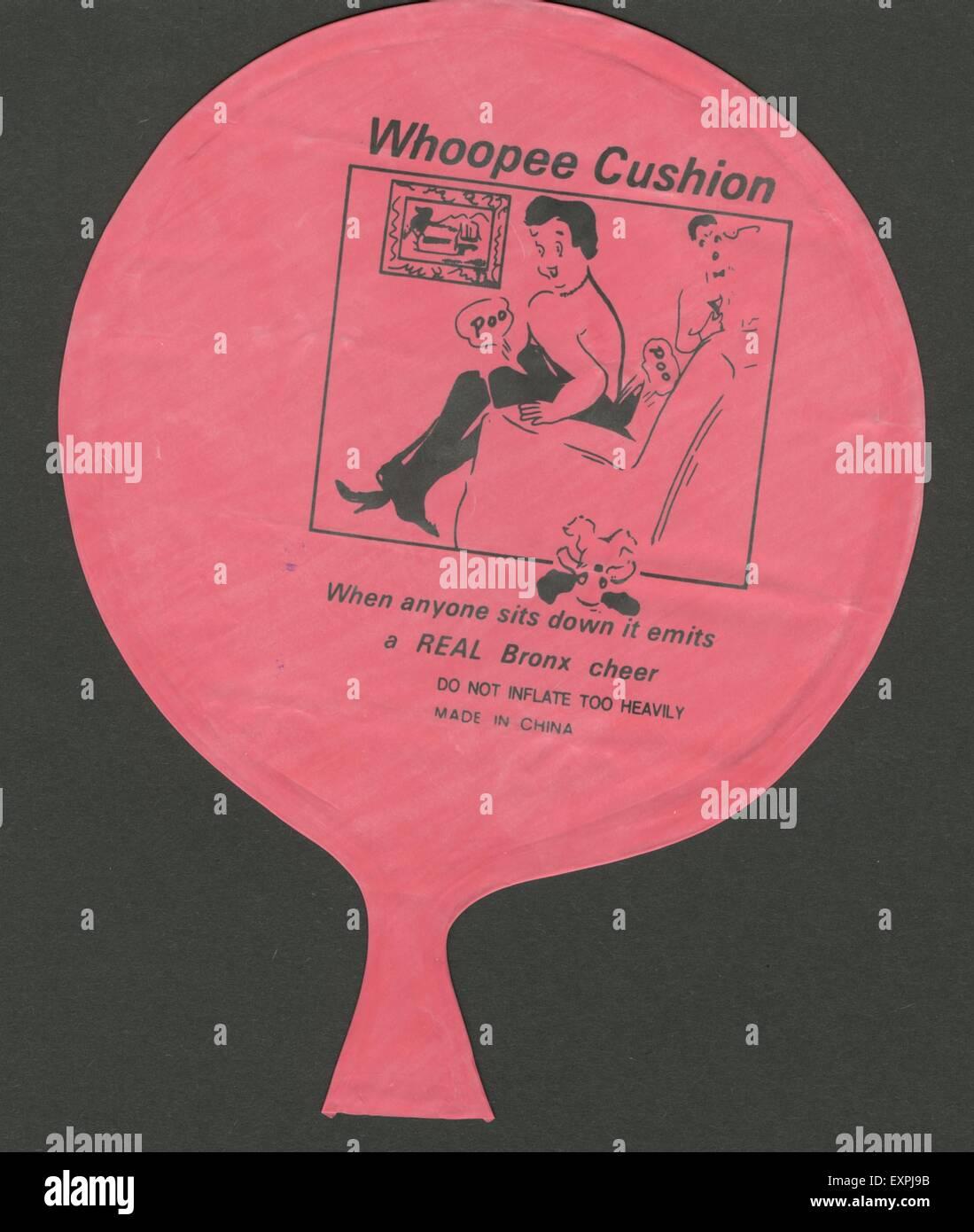 1960 UK Whoopee embalaje Cojines Imagen De Stock