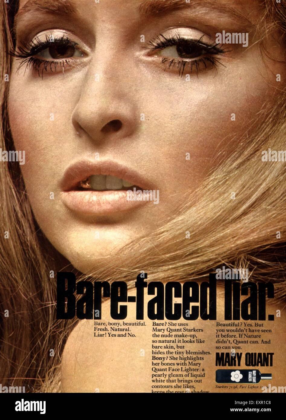 1970 La revista británica Mary Quant anuncio Imagen De Stock