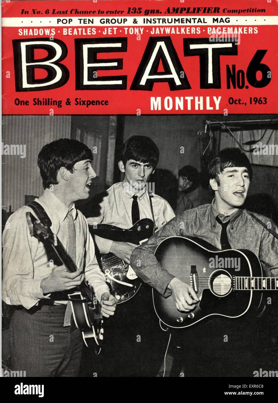 1960 UK Beat la portada de la revista mensual Foto de stock