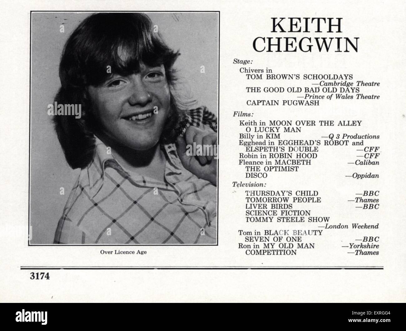 1970s Uk Stage School Resume Imágenes De Stock & 1970s Uk Stage ...