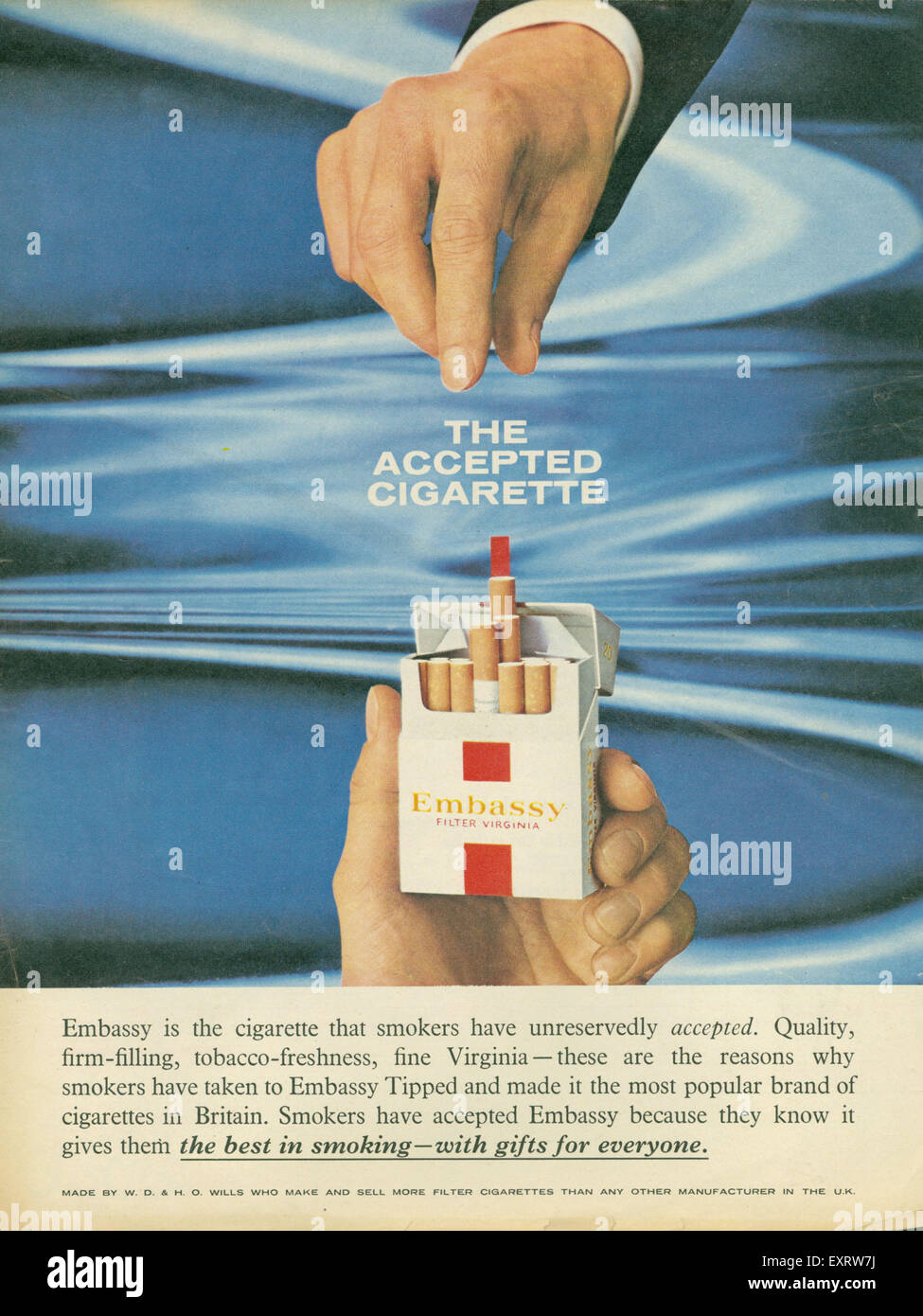 1960 Embajada de Reino Unido Revista anuncio Imagen De Stock