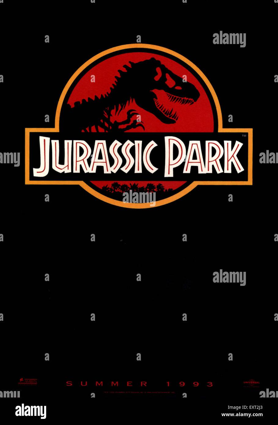 1990s usa póster de película Jurassic Park Foto de stock
