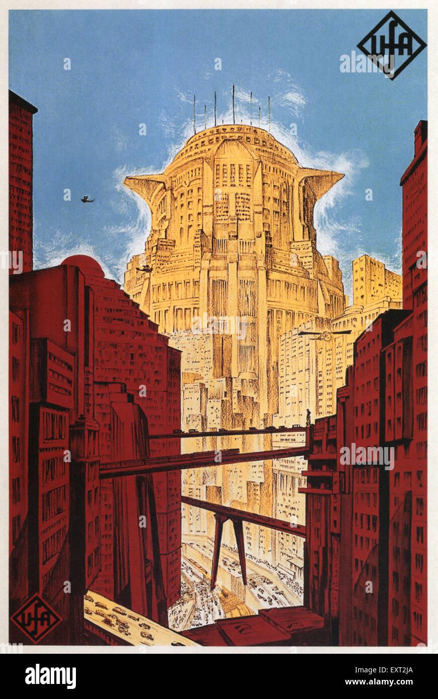 1920 Alemania Metrópolis Film Poster Imagen De Stock