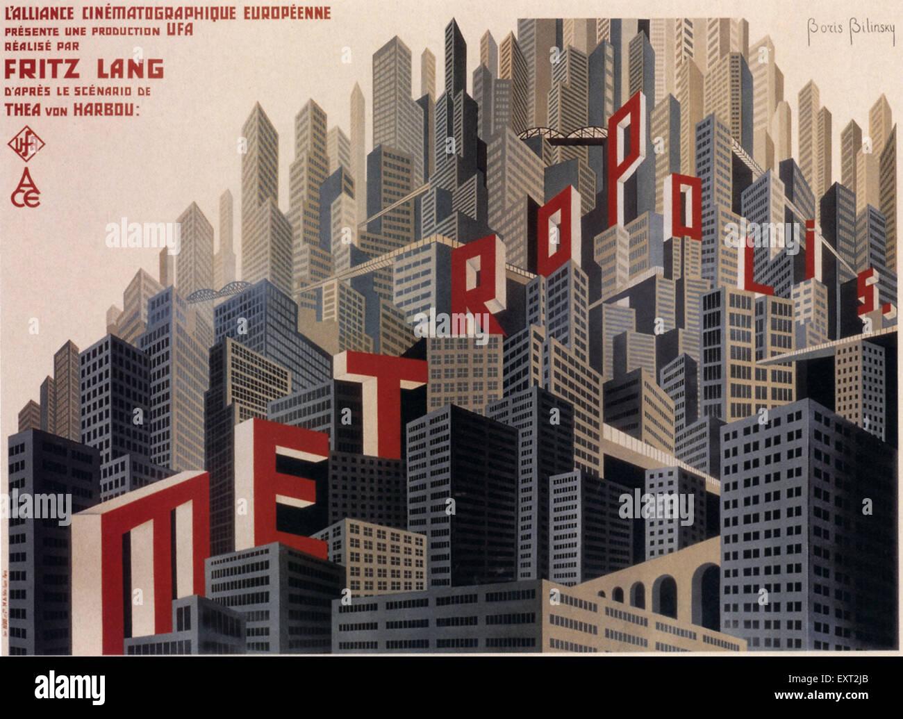 1920 Francia Metrópolis Film Poster Imagen De Stock