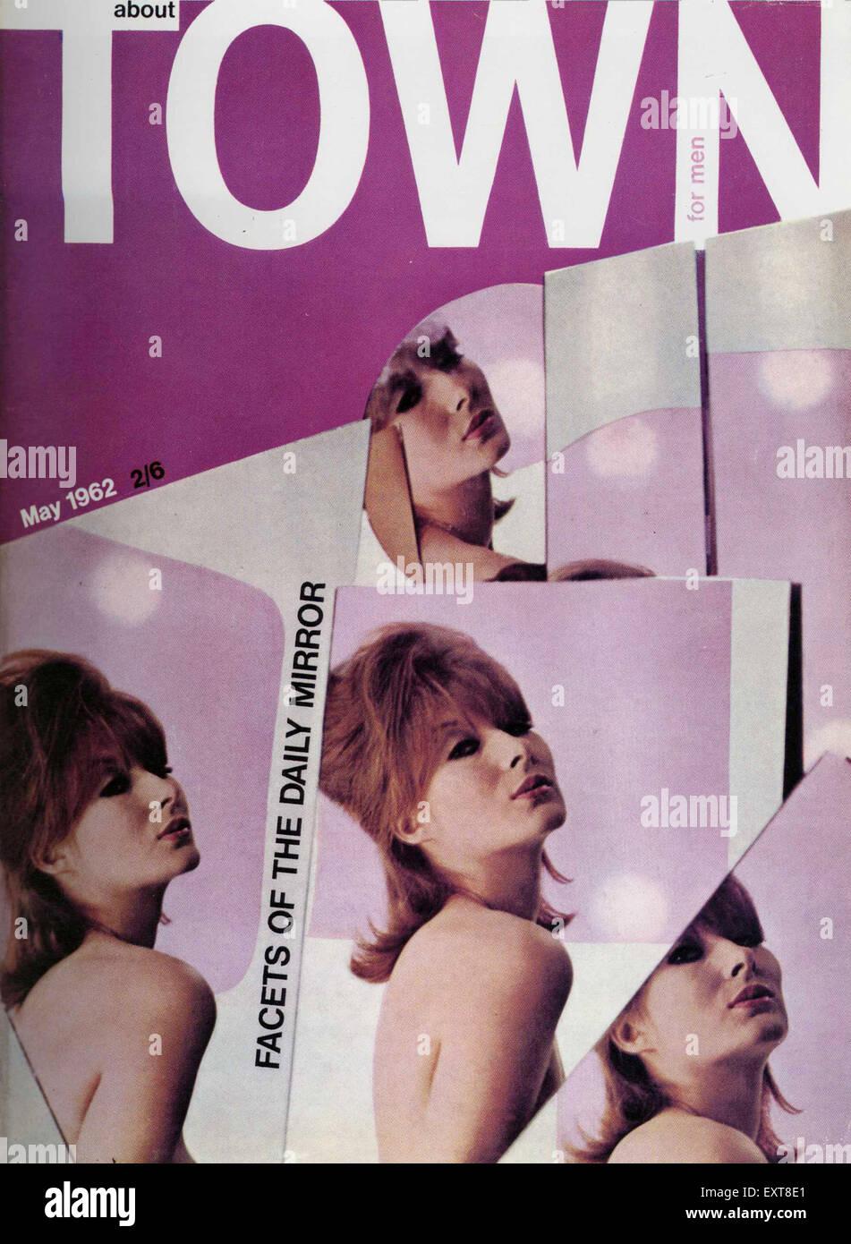 1960 del Reino Unido sobre la ciudad la portada de la revista Imagen De Stock