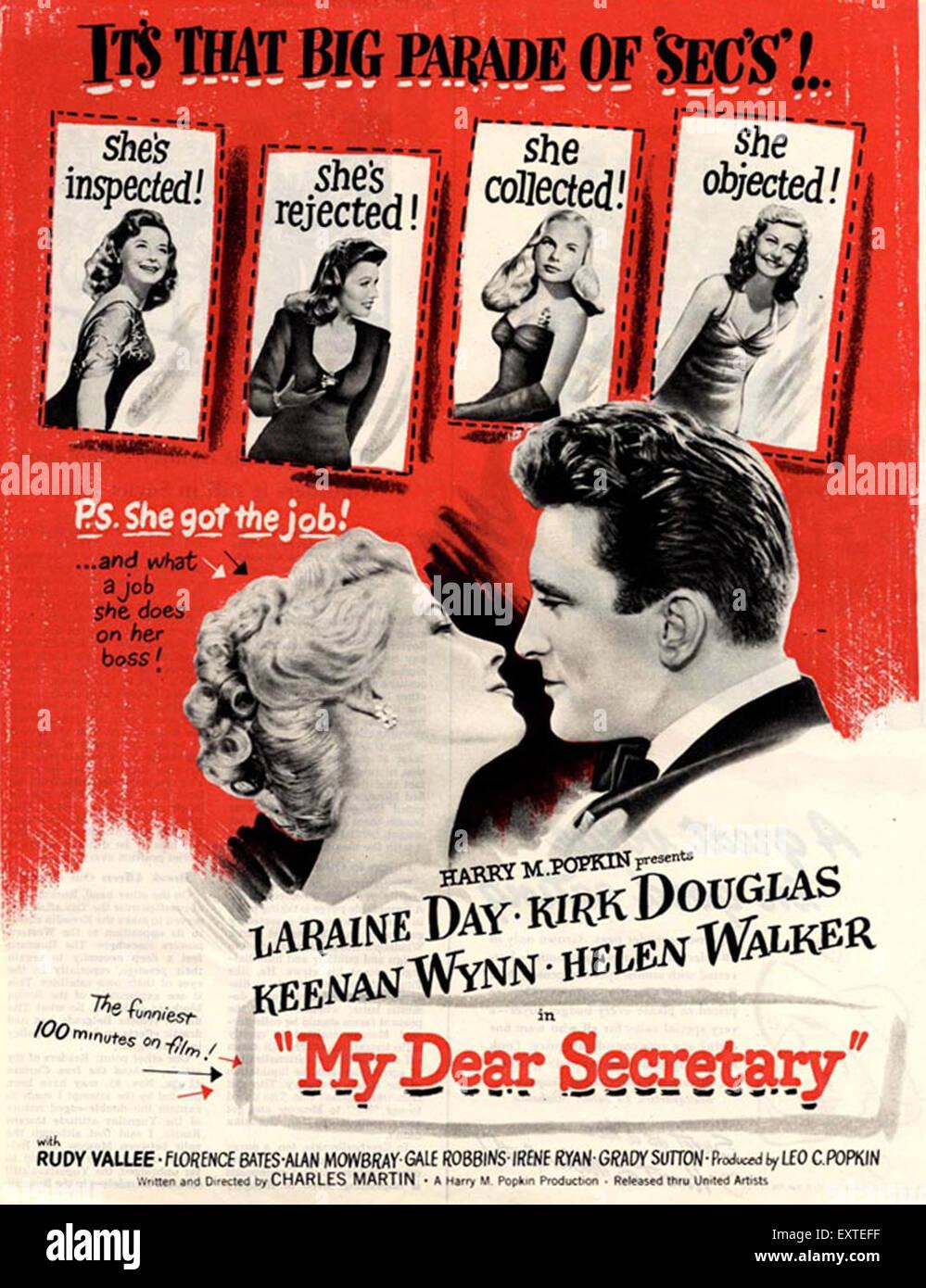 1940 Eeuu Mi Querido Secretario Póster De Película Foto Imagen