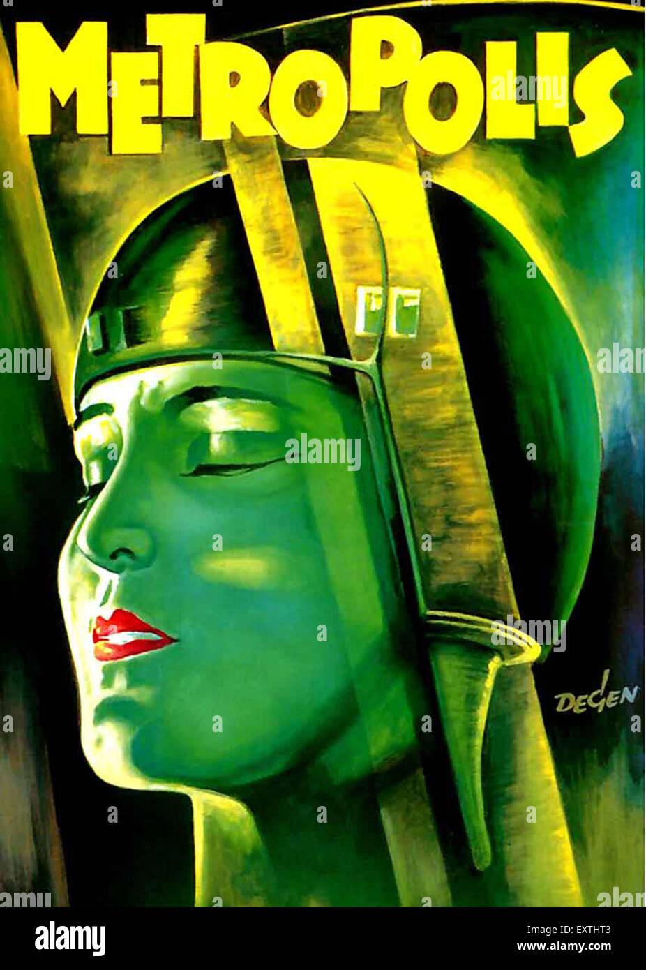 1920s USA Metrópolis Film Poster Imagen De Stock