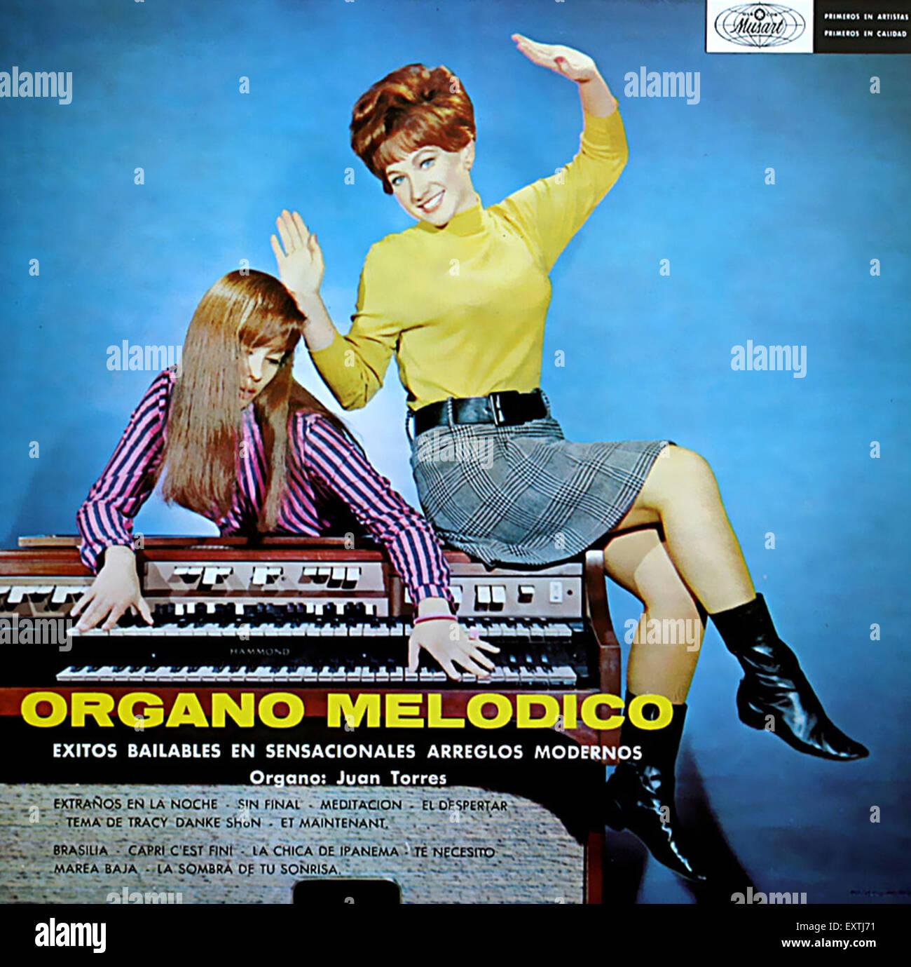 1960 España Organo Melodico portada del álbum Imagen De Stock