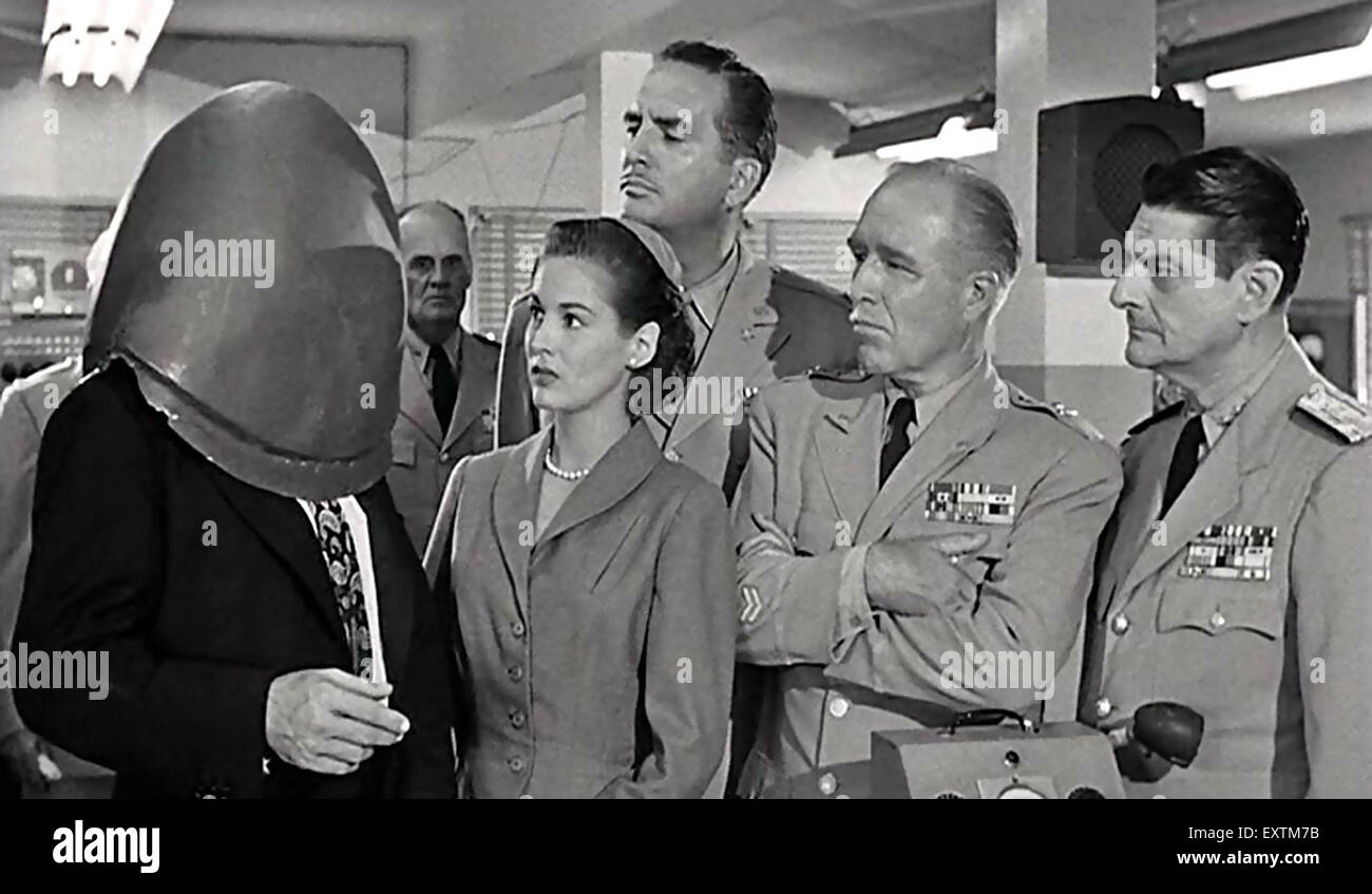 1950 EE.UU. Guerra Fría placa revista de humor Imagen De Stock