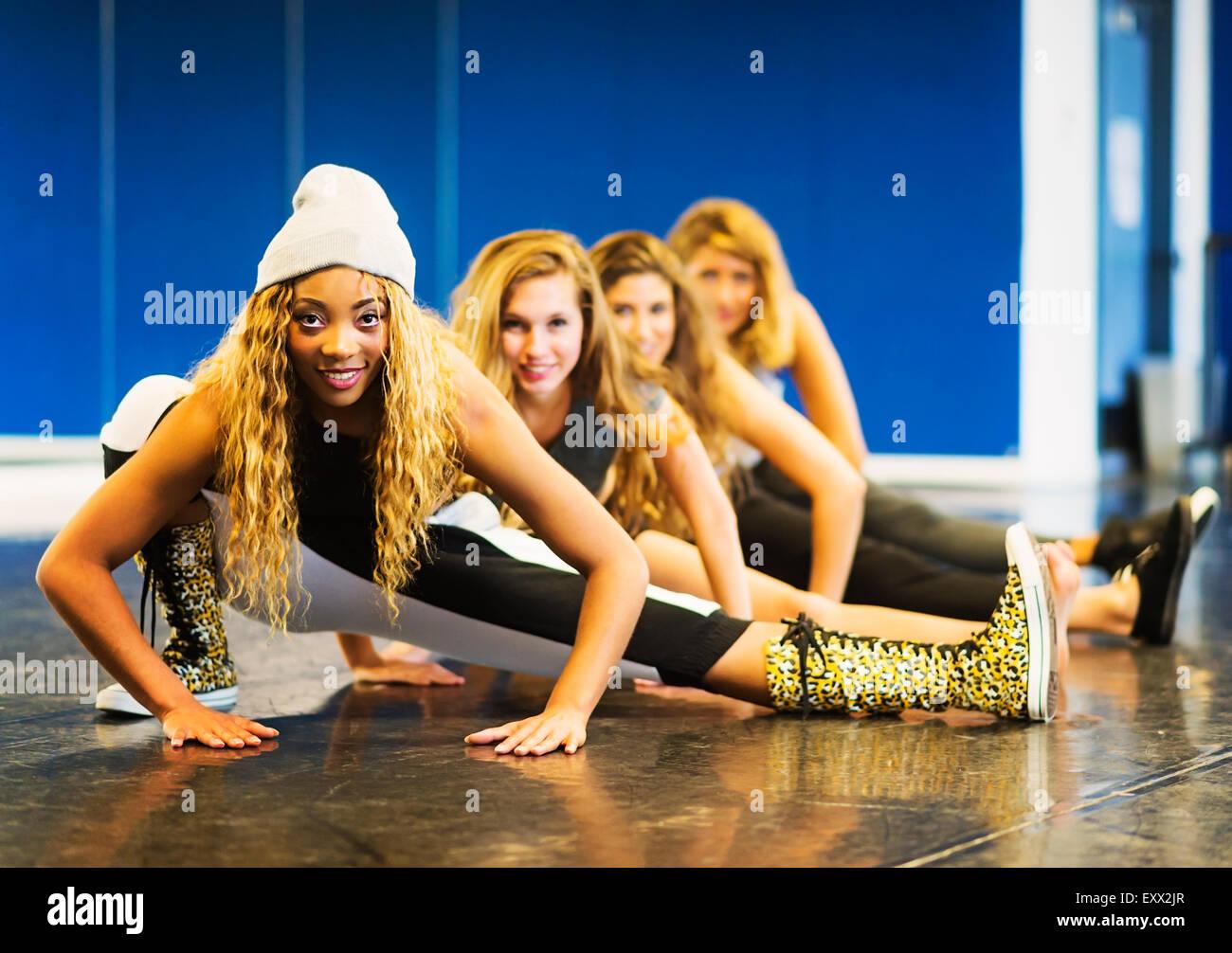 Retrato de bailarinas de la danza studio Imagen De Stock