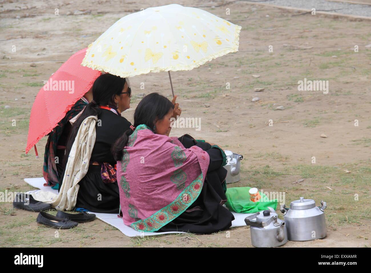 Mujeres tibetanas Imagen De Stock