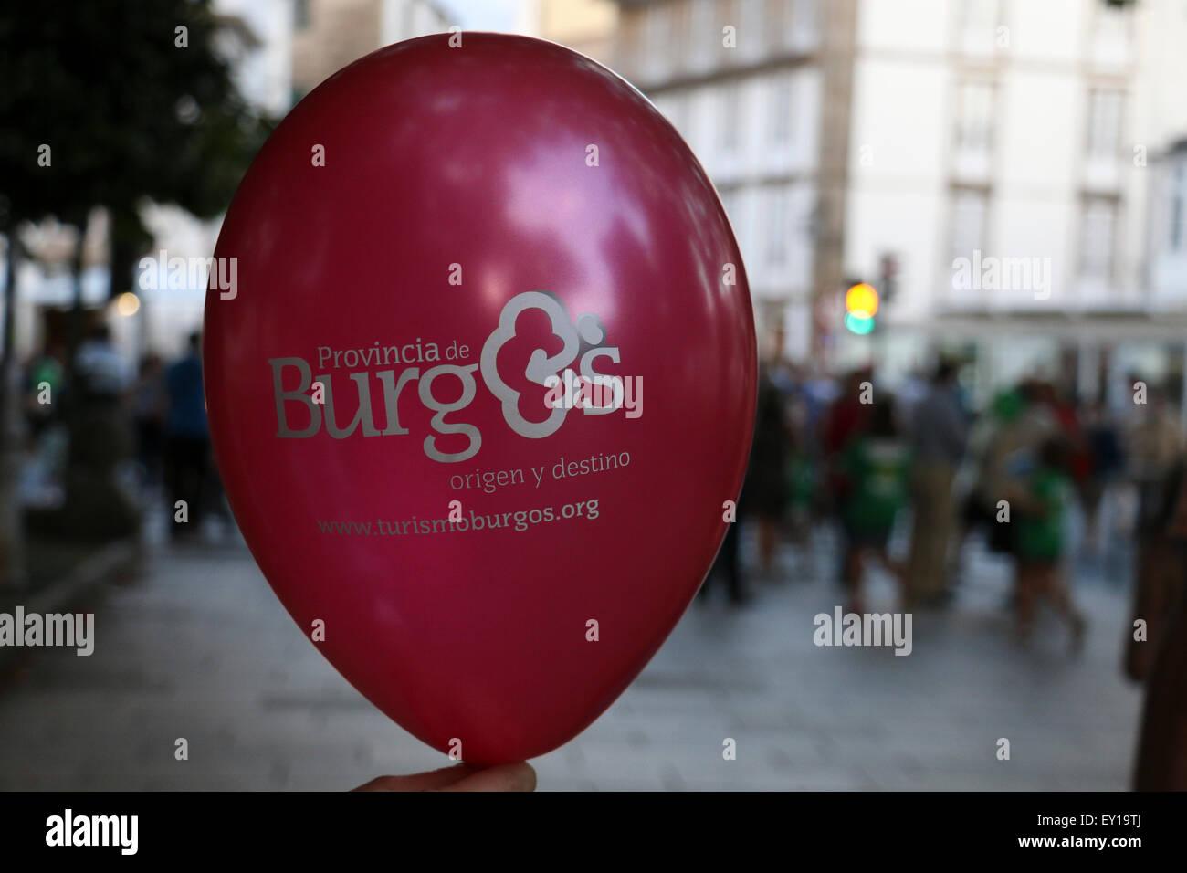 Provincia de Burgos globo Imagen De Stock