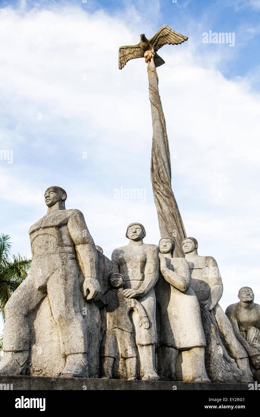 Monumento a los inmigrantes azorianos. Sao Jose, Santa Catarina, Brasil. Foto de stock