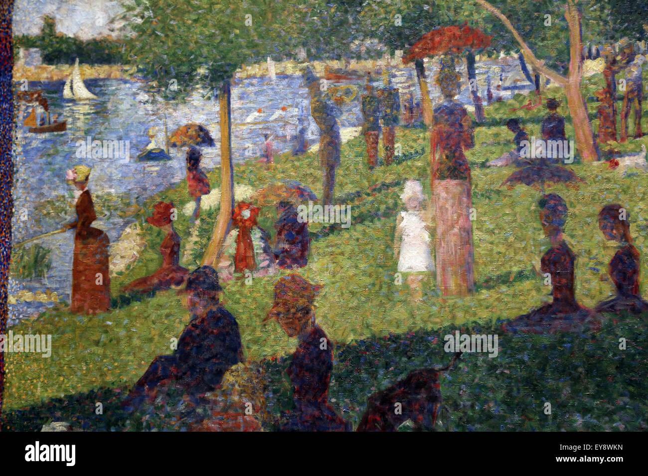 """George Seurat (1859-1891). El pintor francés. Estudio para """"un domingo en la Grande Jatte"""", 1884. Imagen De Stock"""