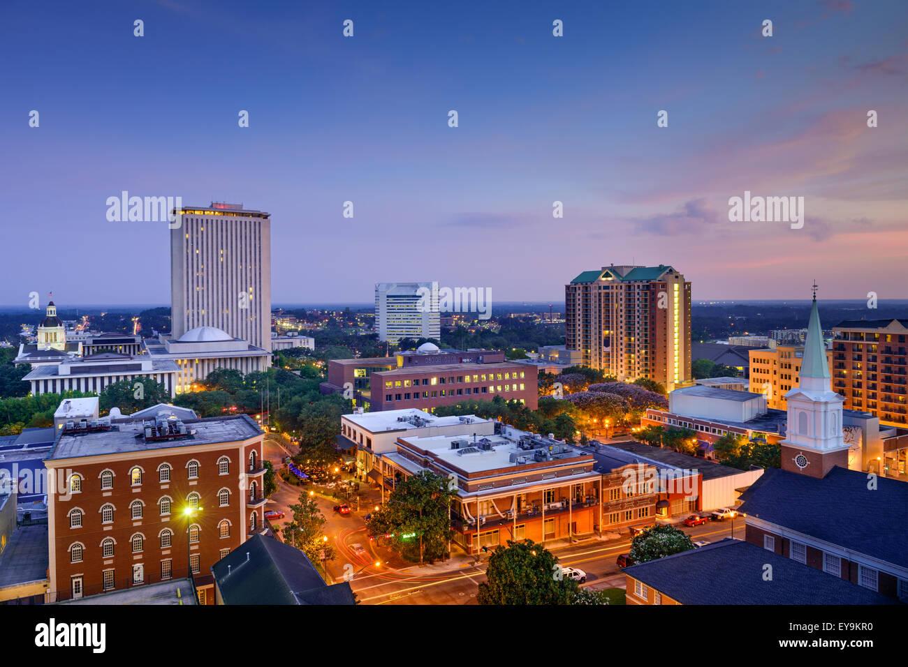 Tallahassee, Florida, EE.UU. Perfil del centro de la ciudad. Imagen De Stock