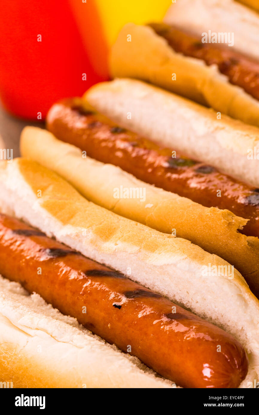 Hot Dog Buns Imágenes De Stock & Hot Dog Buns Fotos De Stock - Alamy