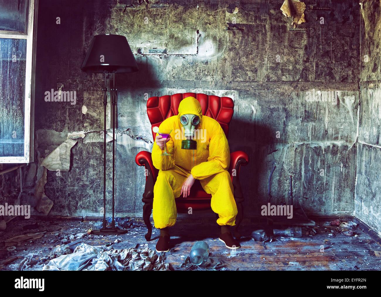 Protección hombre global Imagen De Stock