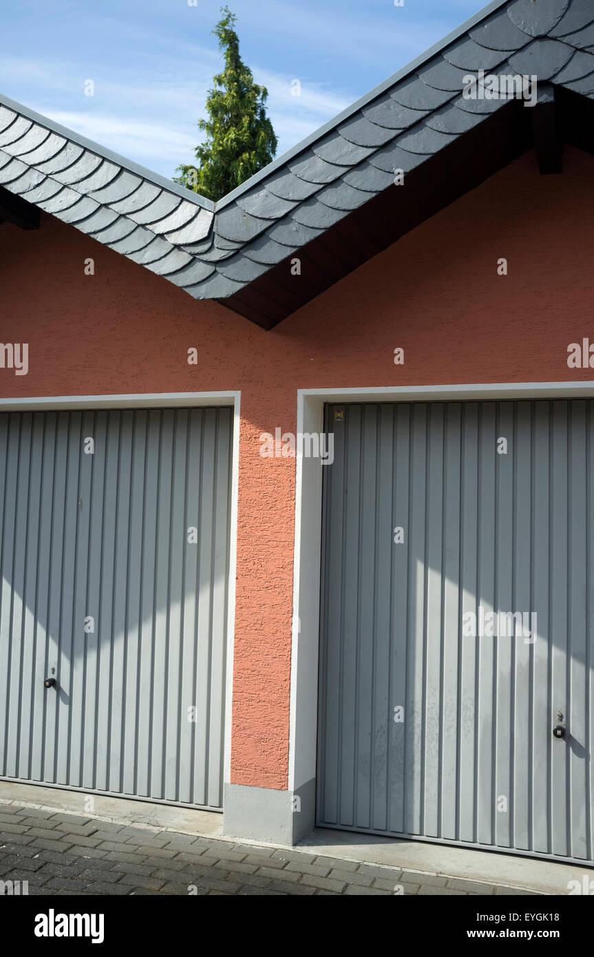 Garajes Leichlingen Alemania Foto de stock