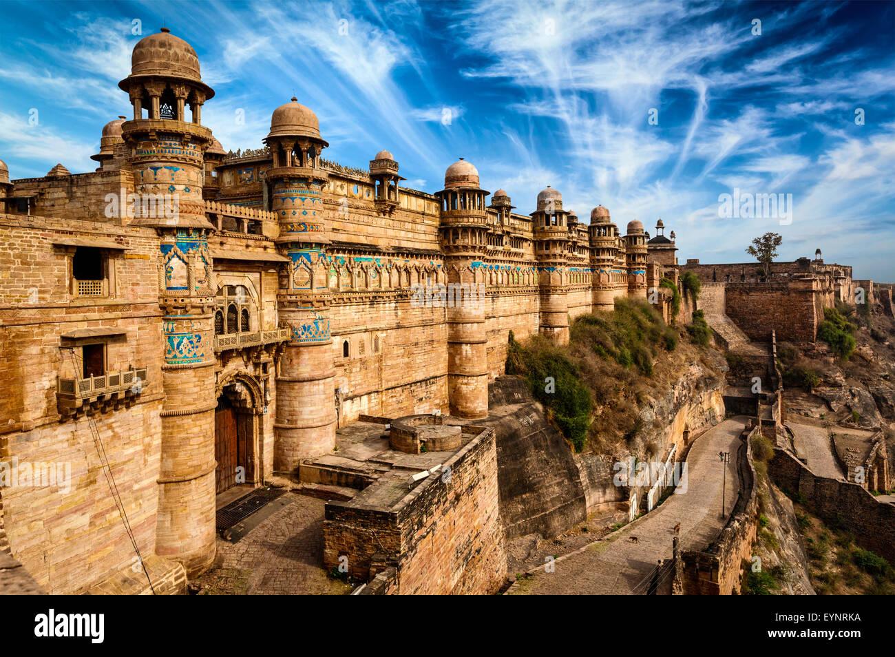 Fortaleza de Gwalior Foto de stock