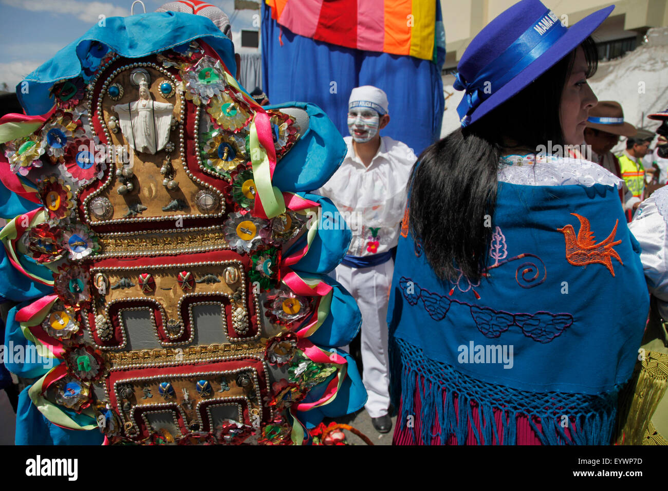 Tradicional fiesta de la Mama Negra en Latacunga, Ecuador, Sudamérica Imagen De Stock