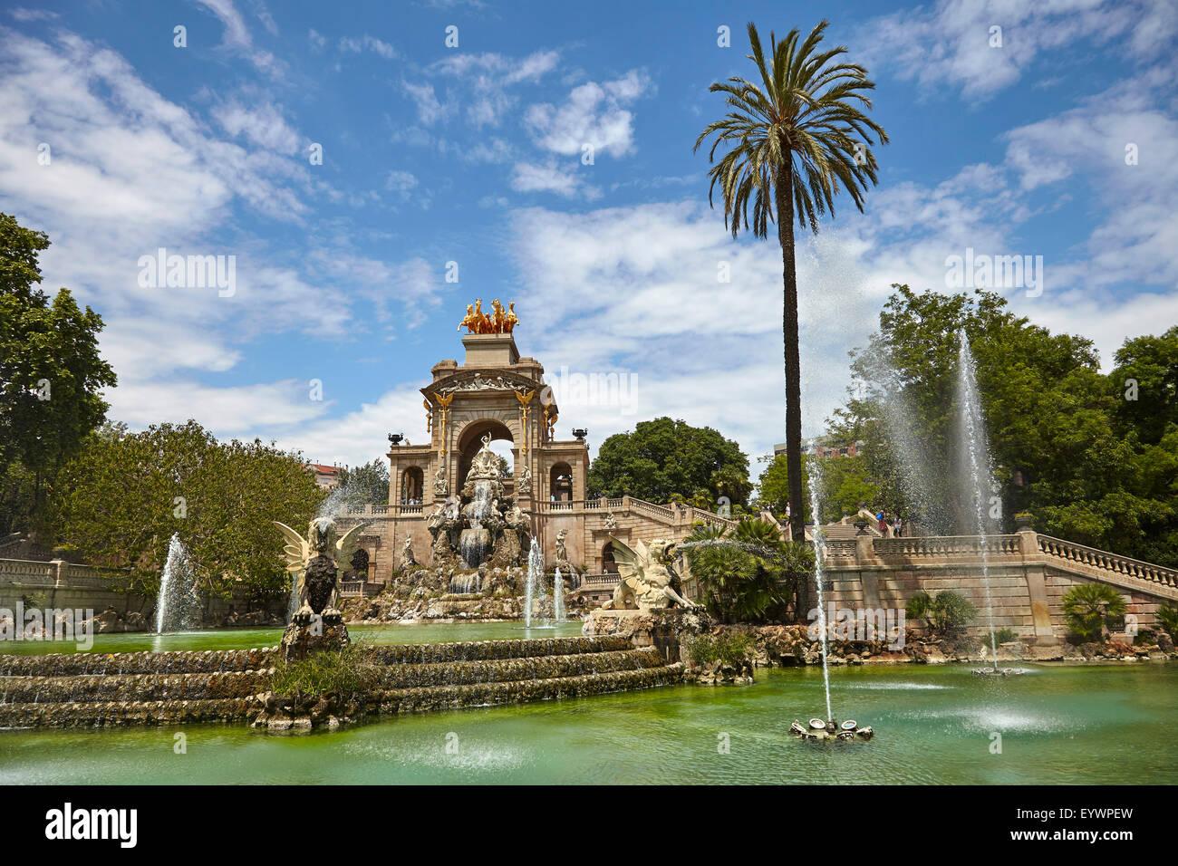 Parc de la Ciutadella, Barcelona, Cataluña, España y Europa Imagen De Stock