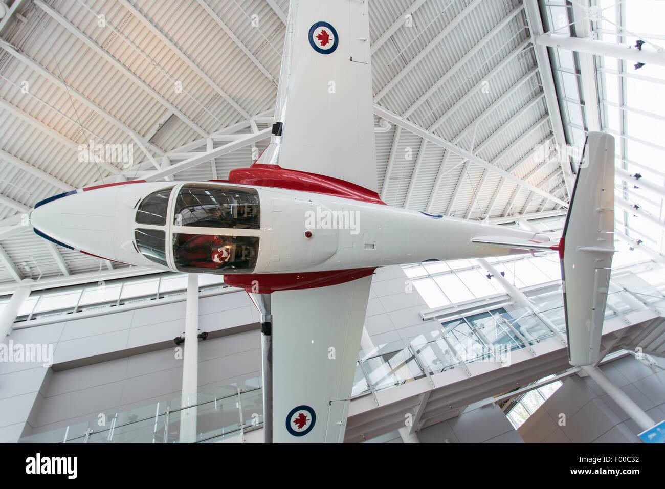Ontario,Canadá, Ottawa, Canadá, la aviación y el Museo del Espacio, Canadair CT-114 Tutor Foto de stock