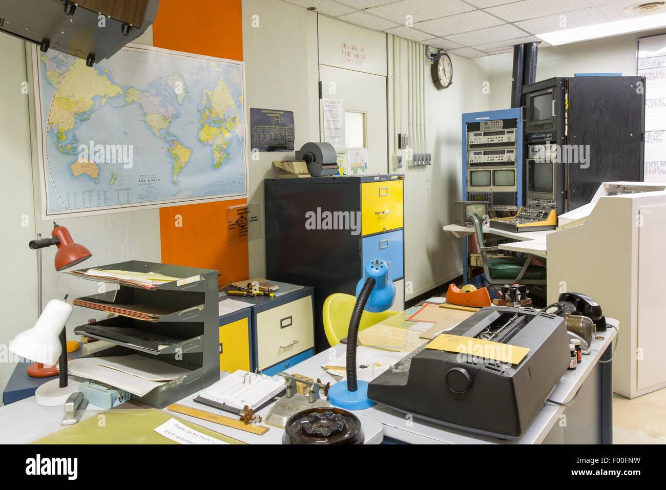 Ontario,Canadá,carpas,Diefenbunker, Canadá es el Museo de la guerra fría,Office Imagen De Stock