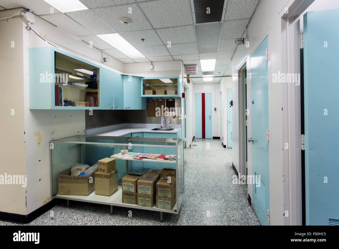 Ontario,Canadá,carpas,Diefenbunker, Canadá es el Museo de la guerra fría,hospital Imagen De Stock