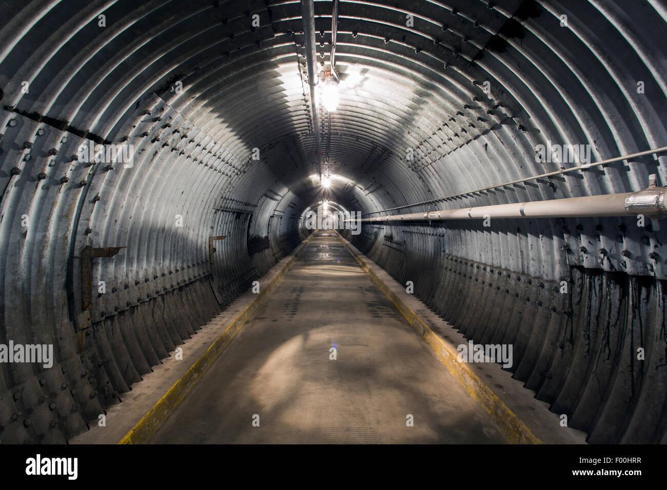 Ontario,Canadá,carpas,Diefenbunker, Canadá es el Museo de la guerra fría Imagen De Stock