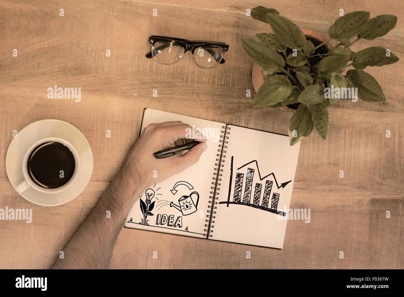 Imagen compuesta de idea e innovación gráfico Imagen De Stock