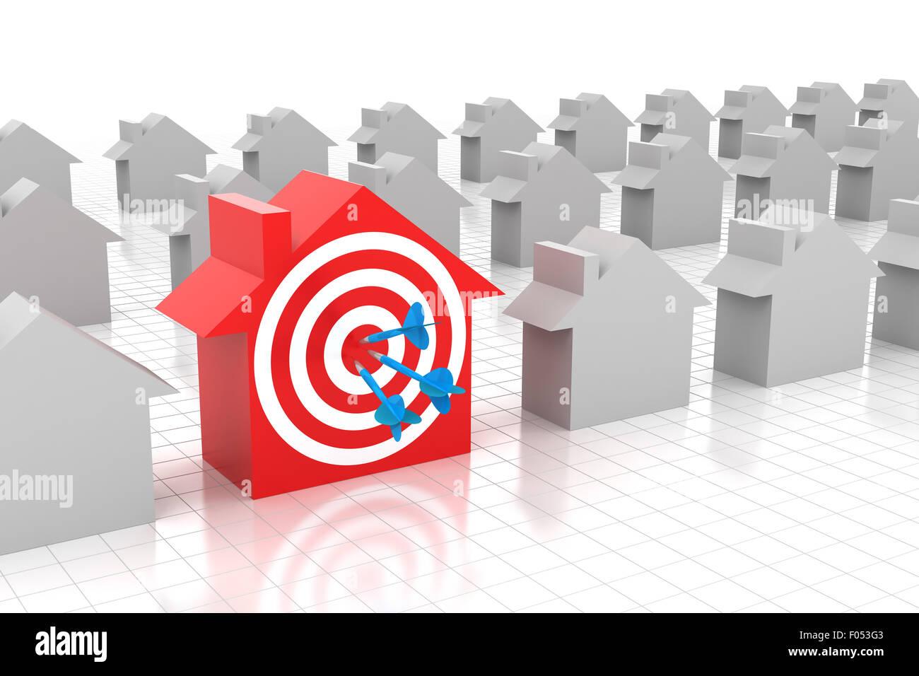 Casa de blanco Imagen De Stock