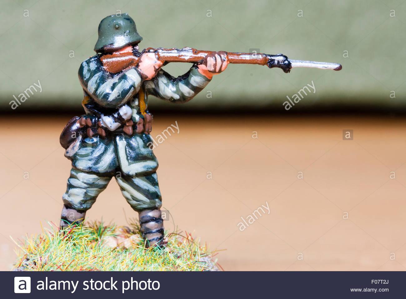 Ho Oo Escala Metalica Pintada Soldado Modelo La Primera Guerra