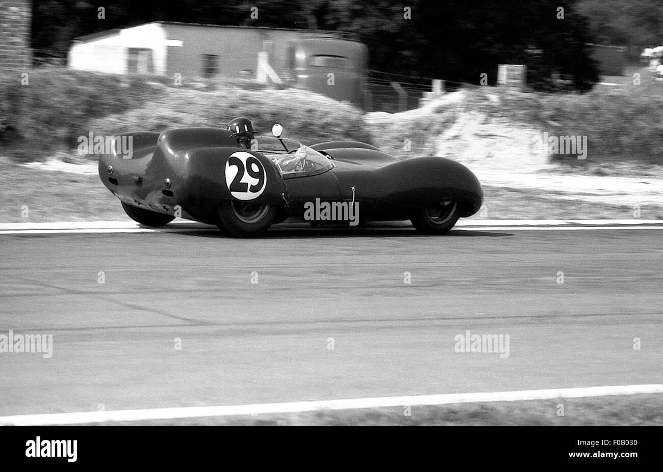 Tourist Trophy Goodwood el 5 de septiembre de 1959. Graham Hill,Alan Stacey Lotus 15 clímax. Imagen De Stock