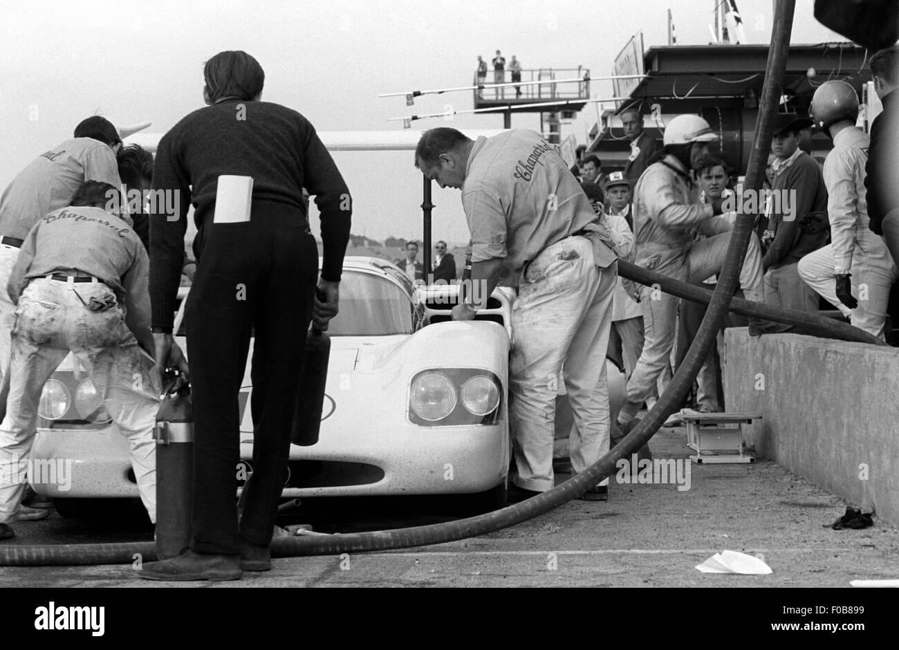Phil Hill's Chaparral 2F Chevrolet en Daytona International Speedway. Imagen De Stock