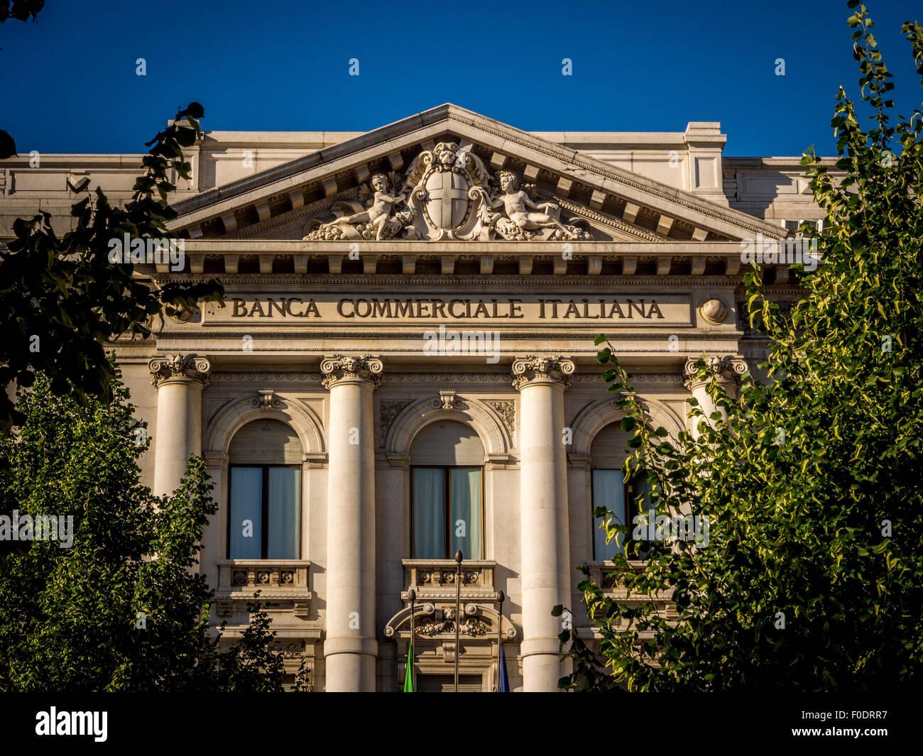 Banca Commerciale Italiana Imagen De Stock