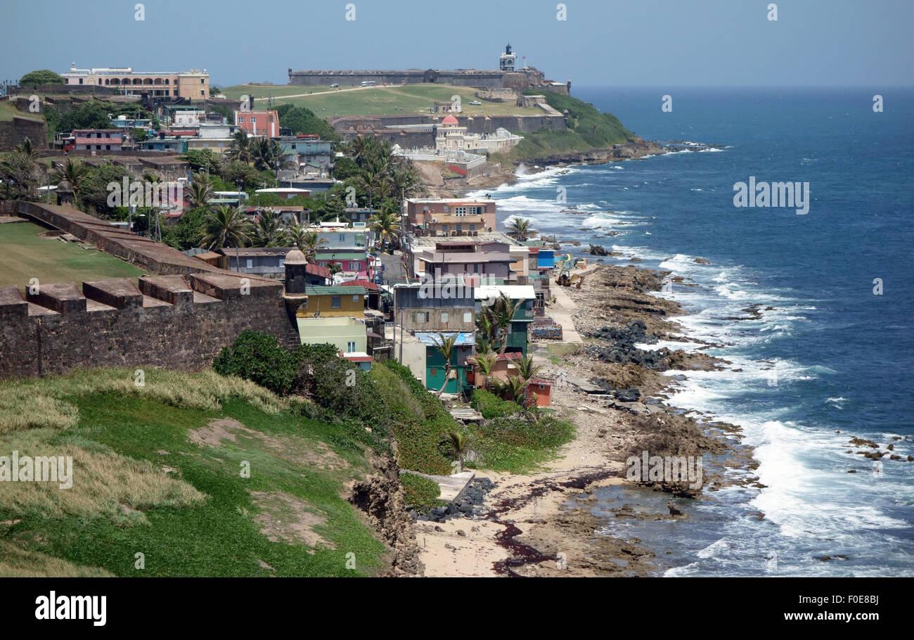 La Perla del Viejo San Juan de Puerto Rico Imagen De Stock
