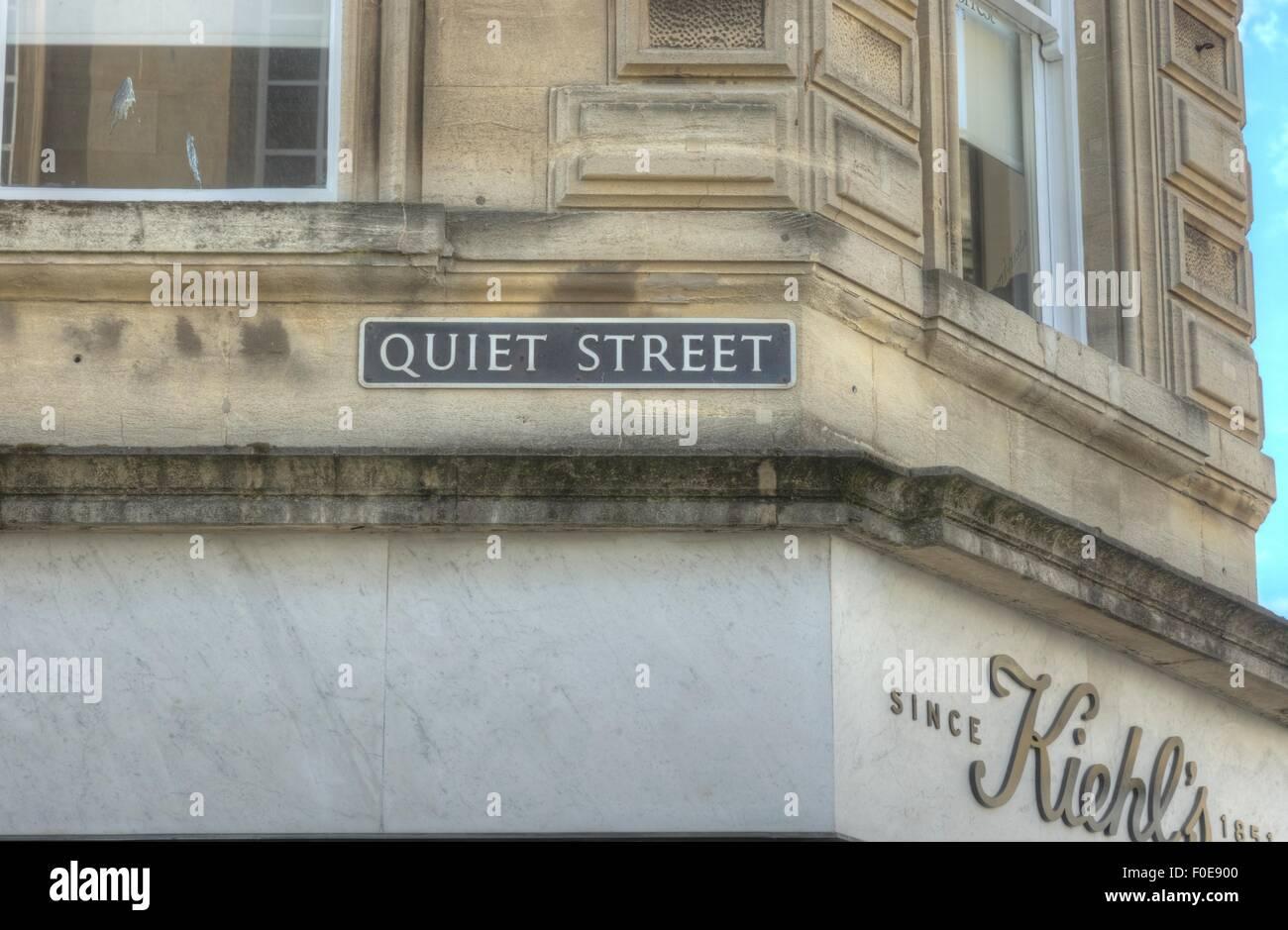 Calle tranquila, de la ciudad de Bath, Inglaterra Imagen De Stock