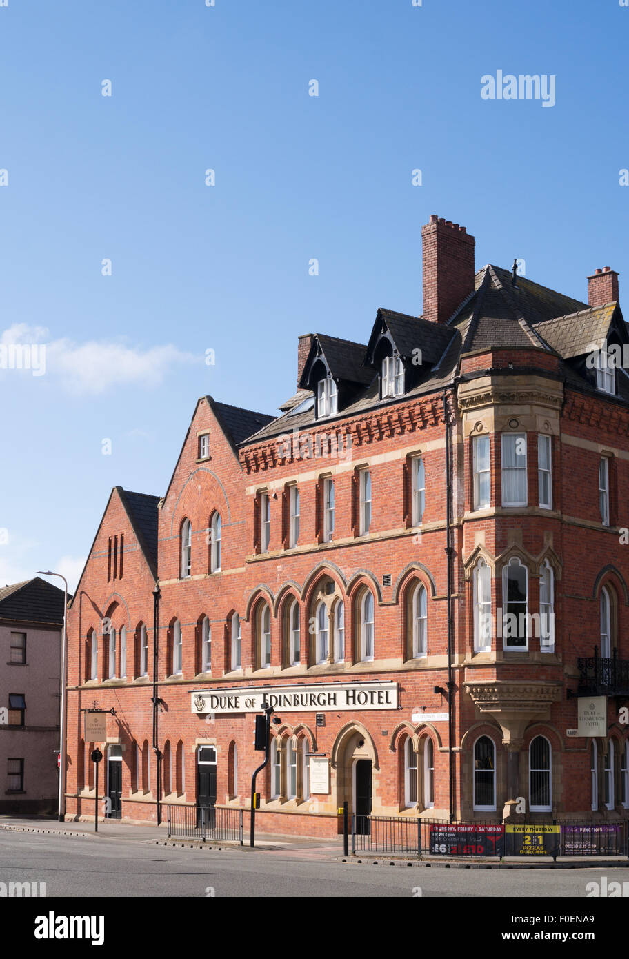 El Duque de Edimburgo Hotel, Barrow-in-Furness, Cumbria, Inglaterra, Reino Unido. Imagen De Stock