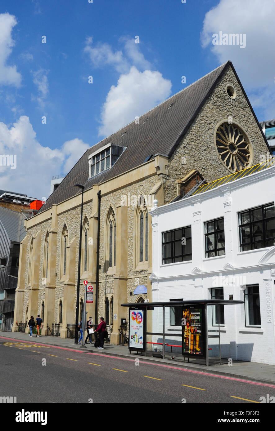 Christian Fellowship Church etíope en el Reino Unido, King's Cross Road Elevation, Londres, Inglaterra, Imagen De Stock