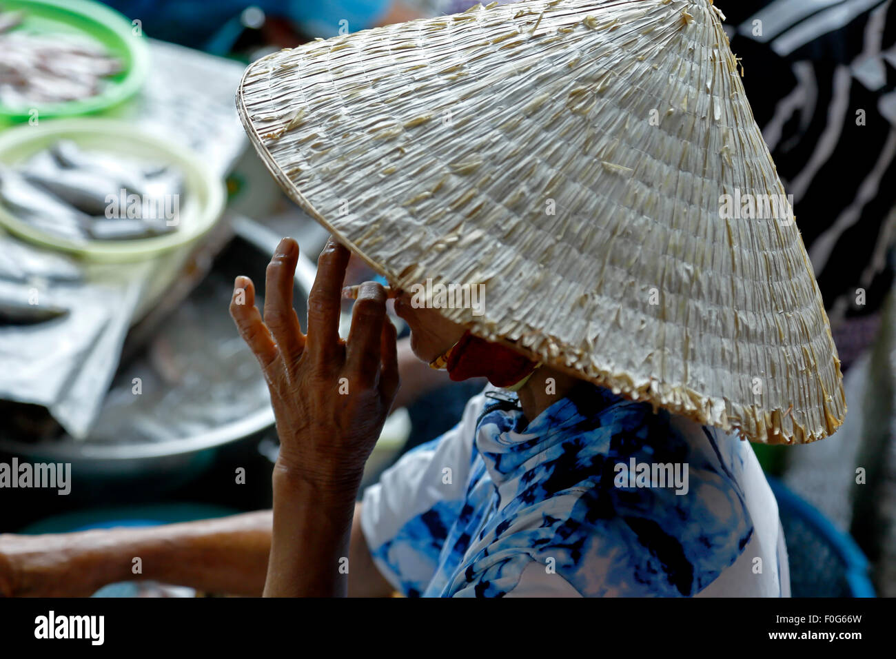 Vietnam Market Hats Imágenes De Stock   Vietnam Market Hats Fotos De ... ebf58612095