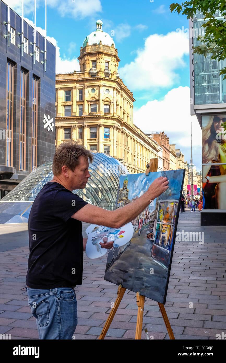 Glasgow, Escocia, Reino Unido. 15 Aug, 2015. Casi 150 artistas llegaron a Glasgow para tomar parte en la 'Rápida' Imagen De Stock