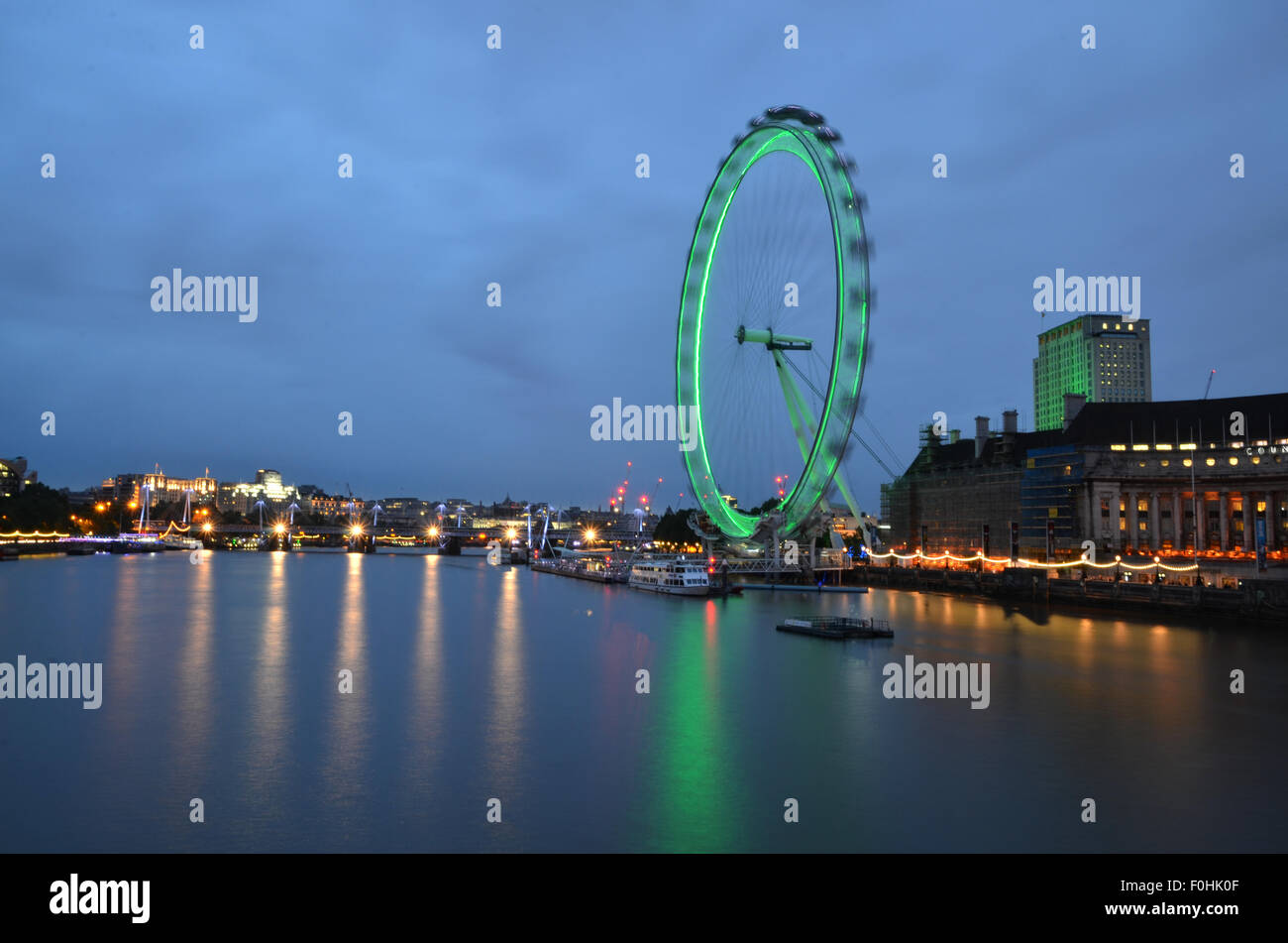 El Ojo de Londres, Londres, Reino Unido. Imagen De Stock