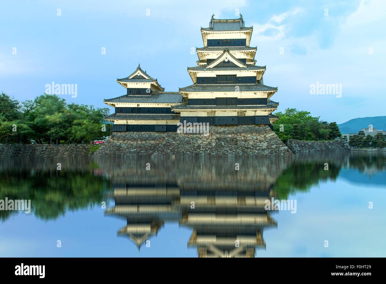 El castillo Matsumoto en Matsumoto, Japón Imagen De Stock