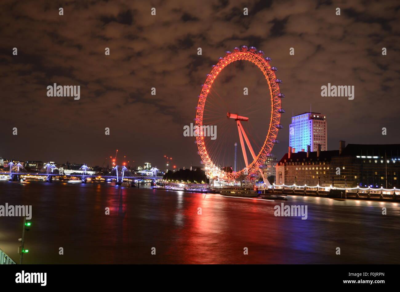 Ojo de Londres, Reino Unido, el río Támesis Foto de stock