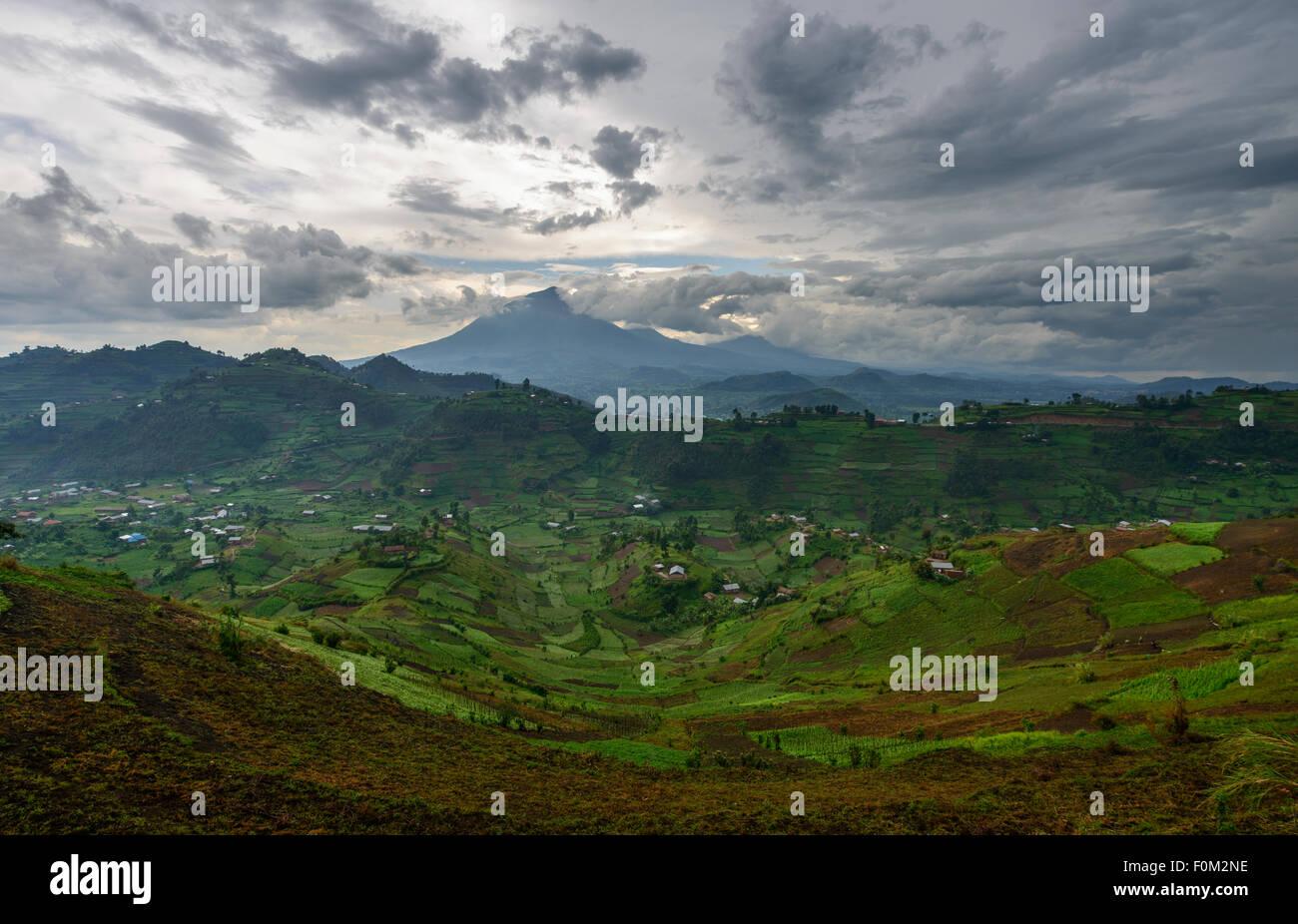 Las montañas Virunga, Uganda, África Imagen De Stock