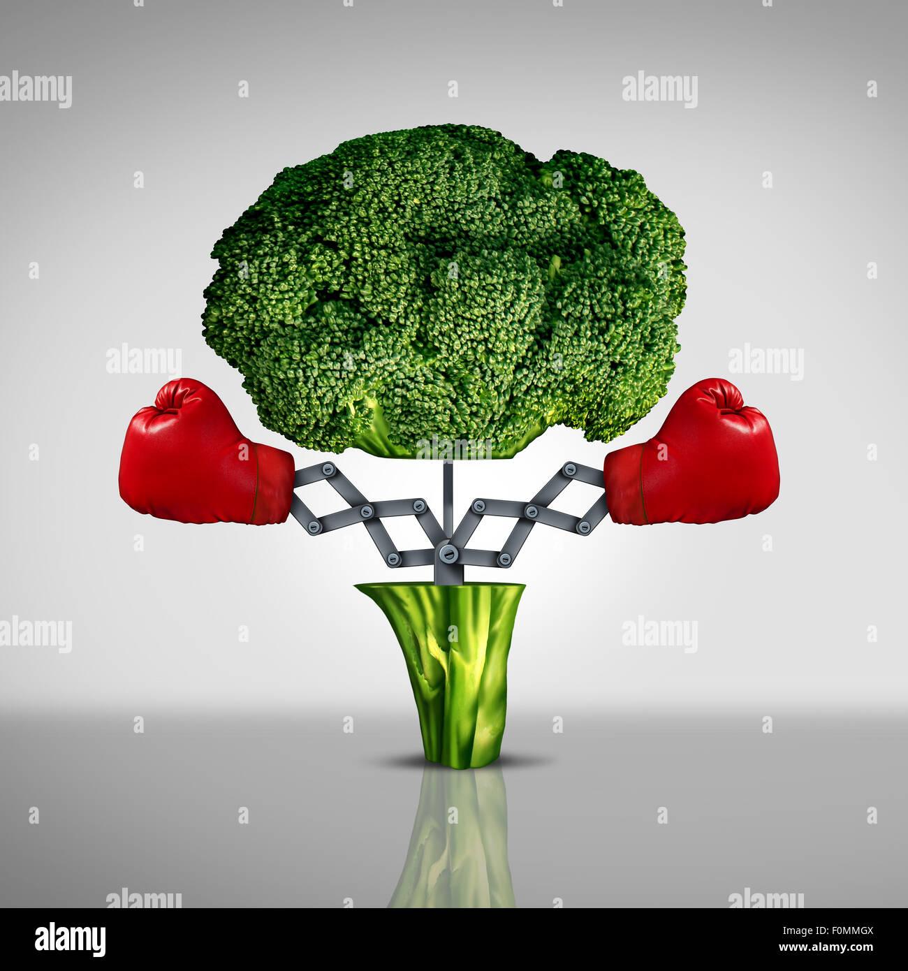 Concepto de salud protección súper alimento y el cáncer la lucha contra las enfermedades como un Imagen De Stock