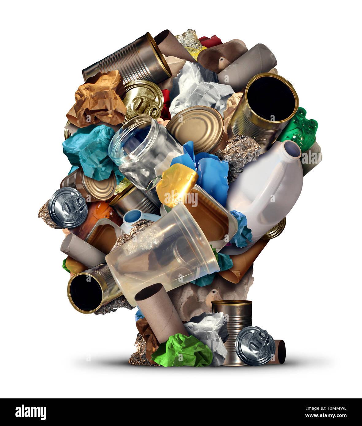 Reciclar ideas y soluciones de gestión de basuras ambientales y formas creativas para reutilizar los residuos Imagen De Stock
