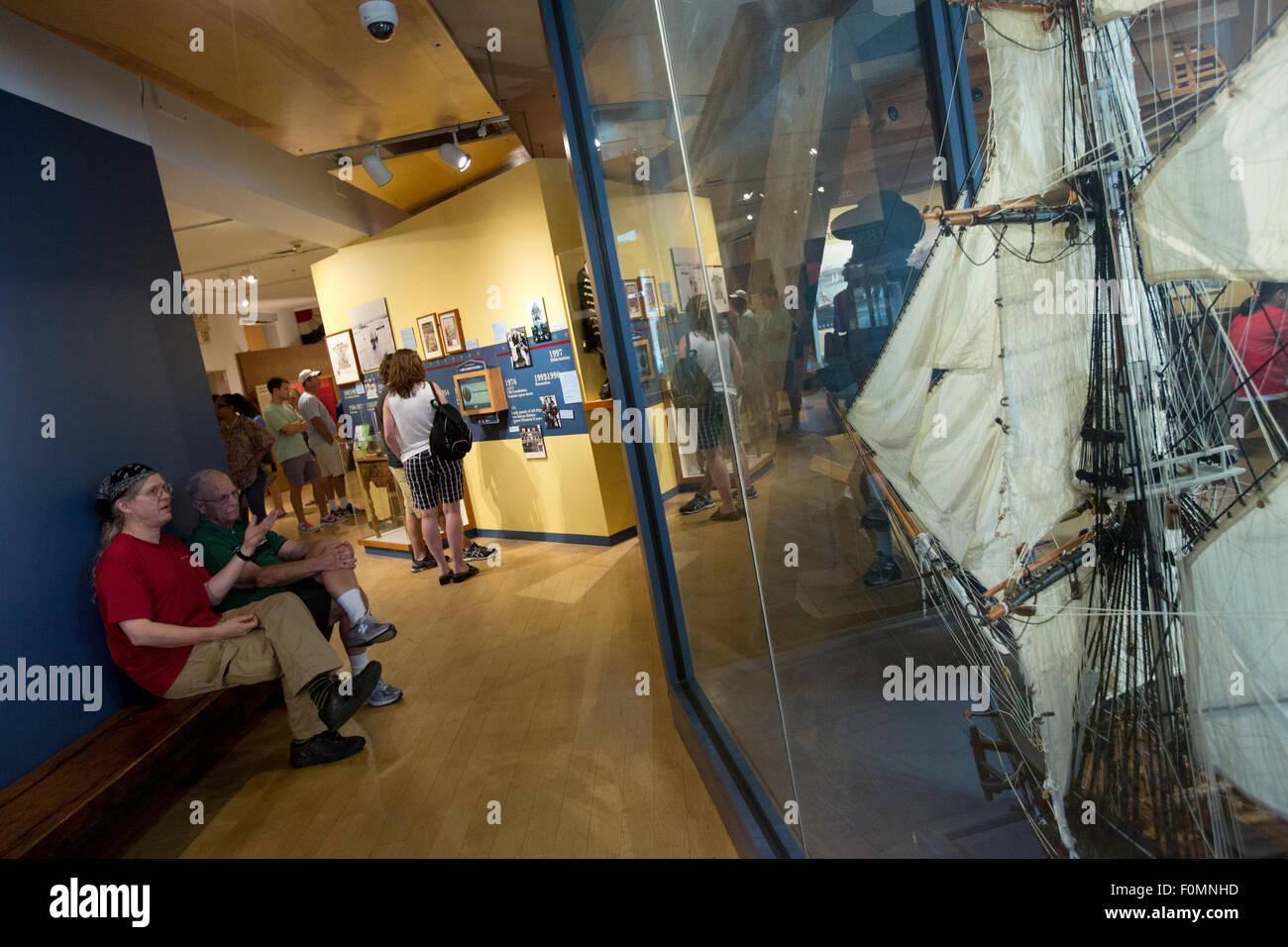 USS Constitution Museum, el modelo de la Constitución Foto de stock