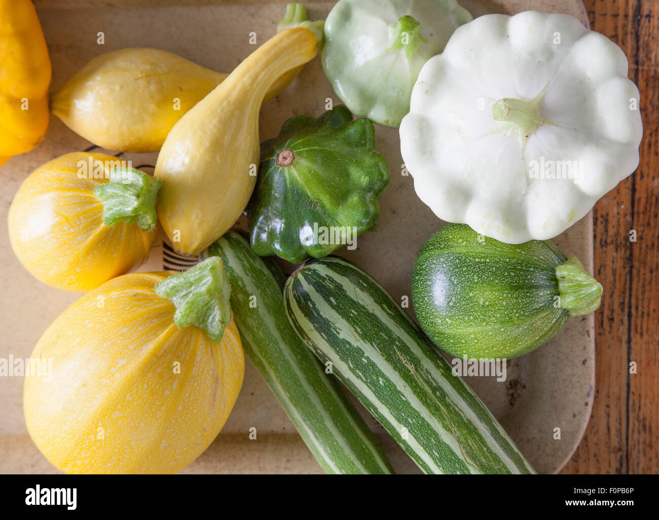 La granja fresco verano squash Imagen De Stock